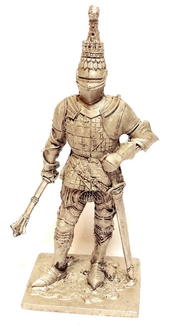 Фигурка Ричард Невилл граф Уорвик Англия 1455г. олово
