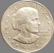 США 1 доллар 1979 D Денвер Колорадо Феминистка Сьюзен Браунелл Энтони