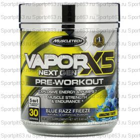 Muscletech, VaporX5, Next Gen, Pre-Workout, Blue Razz Freeze, 9.40 oz (266 g)