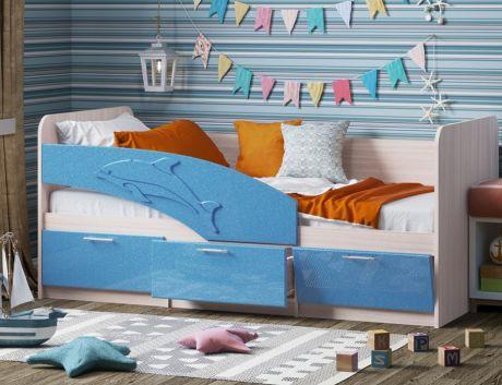 Детская кровать Дельфин МДФ 1,6м