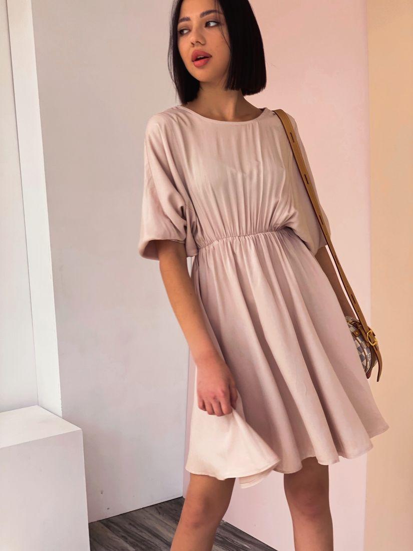 4291 Платье с акцентом на талии в цвете «Айвори»