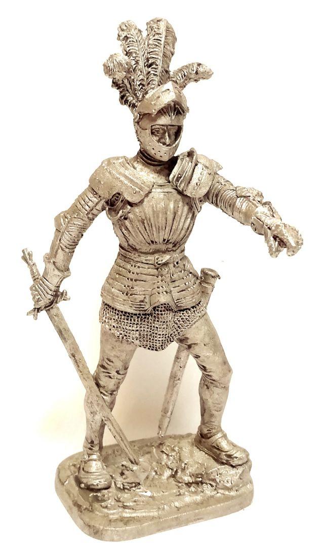 Фигурка Немецкий рыцарь 1500 г. олово