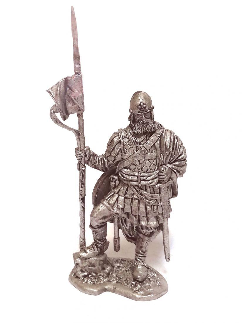 Фигурка Новгородский конный ратник 14 в олово