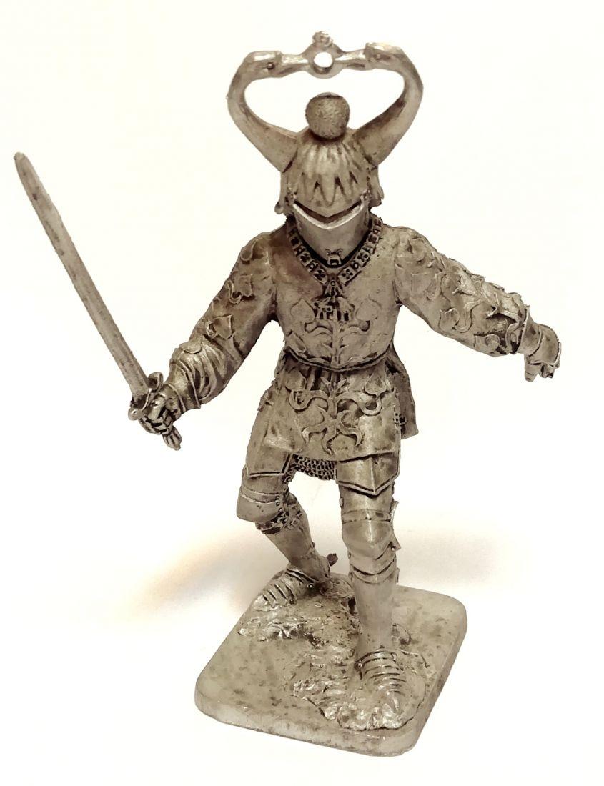 Фигурка Жан де Креки Бургундия 15 в.. олово
