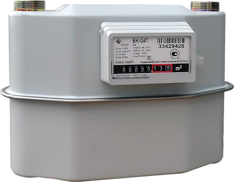 Счетчик газа ВК G4T левый 250мм