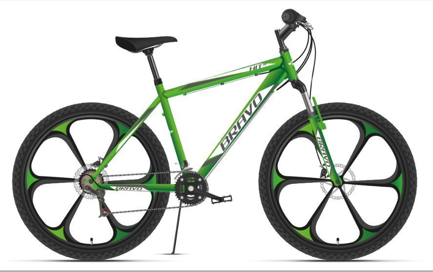 Велосипед Bravo Hit 26 D FW Зелёный/белый/серый (HD00000323)