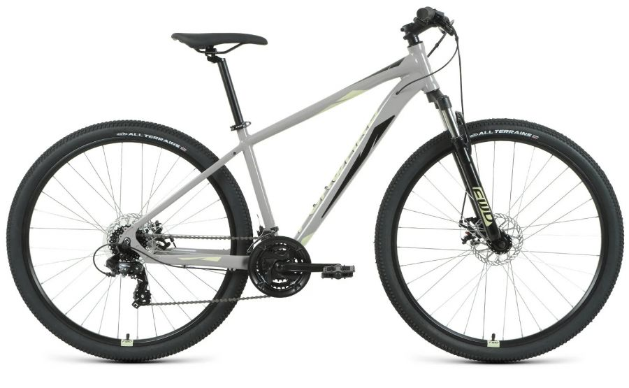 Велосипед Forward APACHE 29 2.2 S disc Серый/бежевый (RBKW1M39GS09)