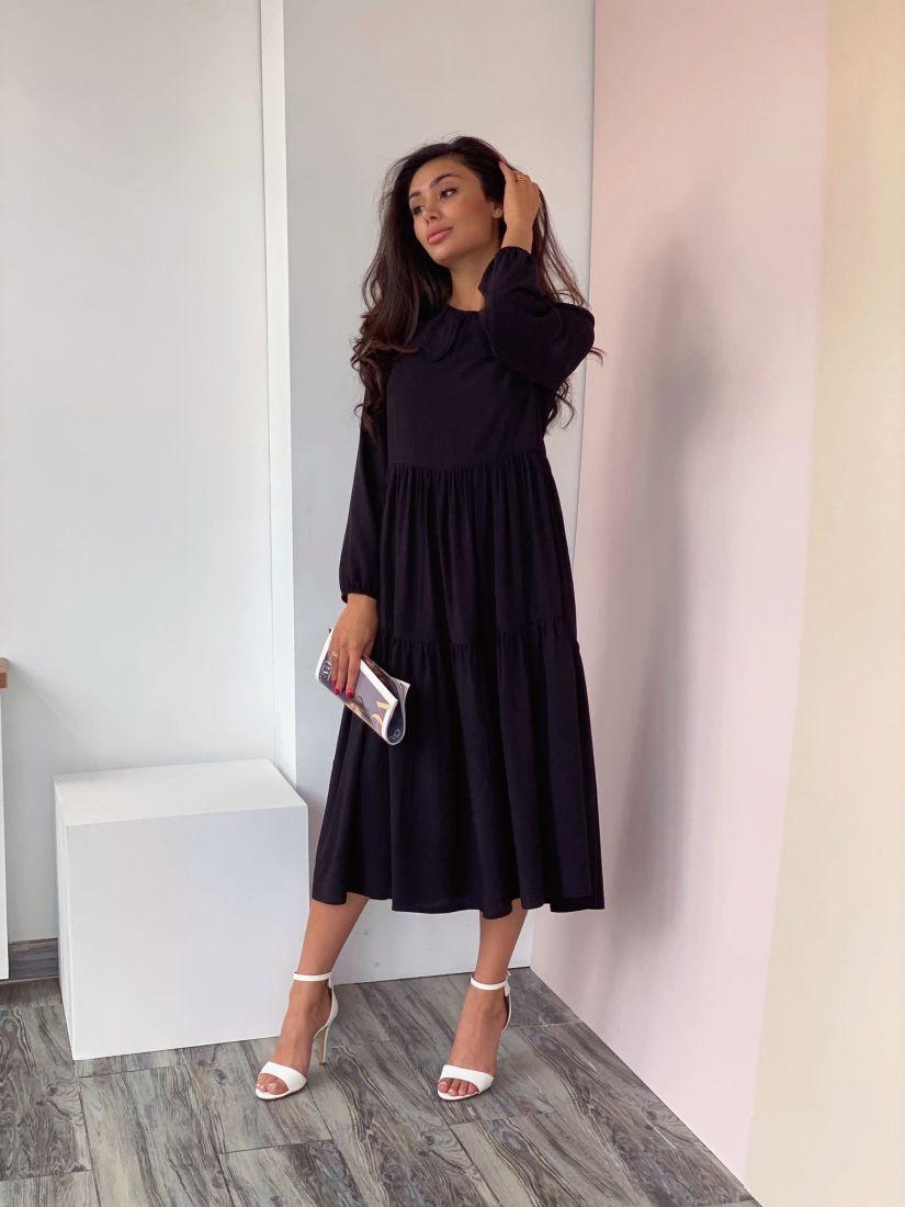 4311 Платье в ретро-стиле чёрное