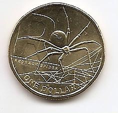 Рыжий паук серия Английский алфавит R  1 доллар Австралия 2021