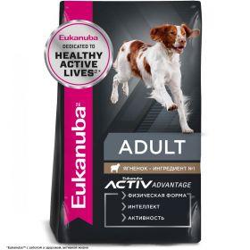 Eukanuba Adult All Breed корм для взрослых собак всех пород ягненок с рисом