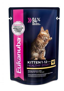 Eukanuba Kitten влажный корм для котят пауч 85г