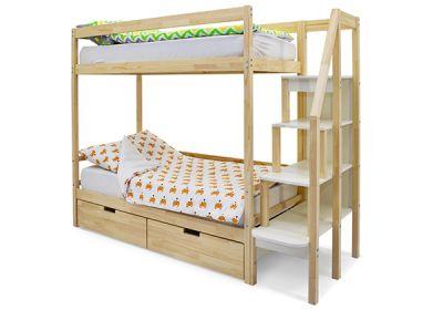 Двухъярусная кровать Бельмарко Svogen (натуральный)
