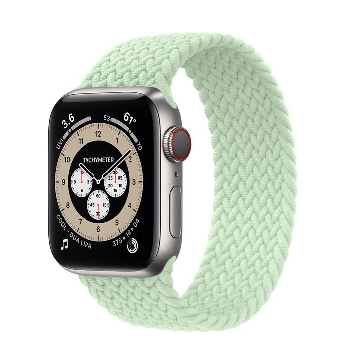 Часы Apple Watch Edition Series 6 GPS + Cellular 40mm Titanium Case with Pistachio Braided Solo Loop