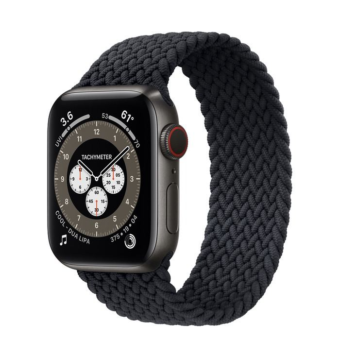 Часы Apple Watch Edition Series 6 GPS + Cellular 40mm Space Black Titanium Case with Charcoal Braided Solo Loop