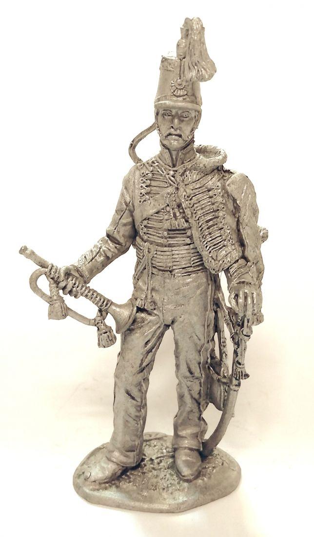 Фигурка Штаб-Трубач Московского Драгунского полка олово
