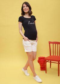 """Футболка """"Агна"""" для беременных и кормящих; цвет: т.синий"""
