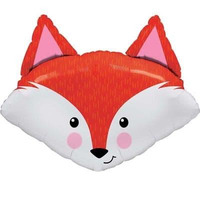 Лисичка (мордочка) шар фольгированный с гелием