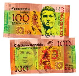 100 cem escudos (эскудо) — Криштиану Роналду (Cristiano Ronaldo. Portugal). Памятная банкнота. UNC