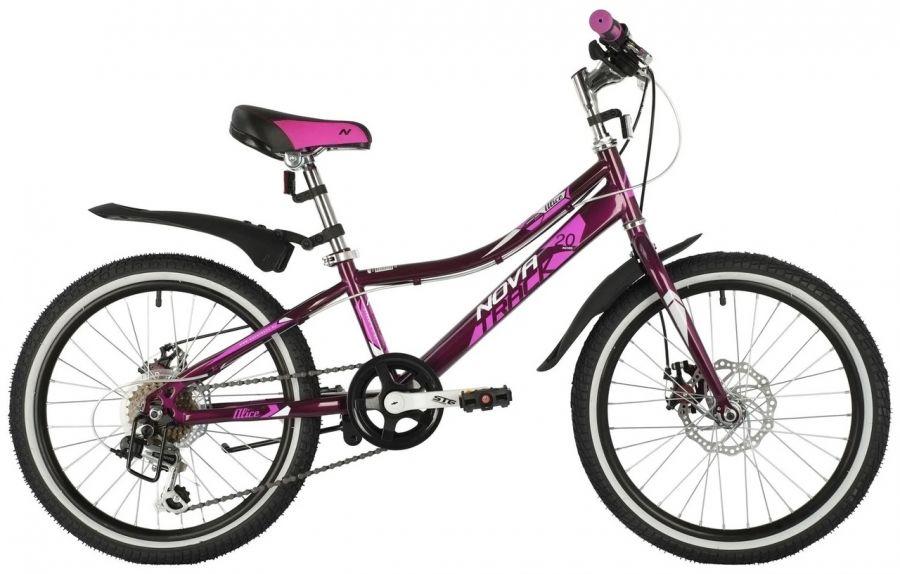 Подростковый горный (MTB) велосипед Novatrack Alice 20 Disc Пурпурный (145860)