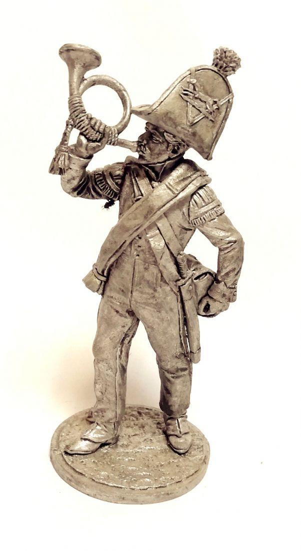 Фигурка Горнист роты егерей Авангардного батальона. Брауншвейг, 1815 г олово