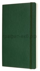 Книжка зап.Moleskine Large Soft Classic в точку зеленый QP619K15