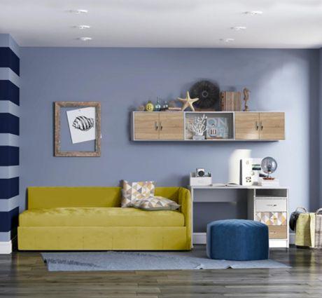 Комплект мебели Сканди с мягкой кроватью