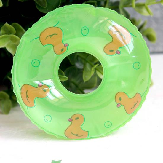Кукольный аксессуар - Зеленый надувной круг, 9 см.