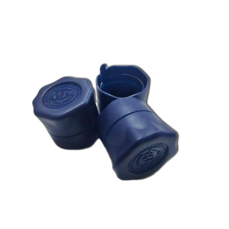 Пластиковая пробка на бутылку винт 28*18 мм, 10 шт (синий)