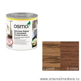 Цветные бейцы на масляной основе для тонирования деревянных поверхностей Osmo Ol-Beize 3543 Коньяк 0,125 л