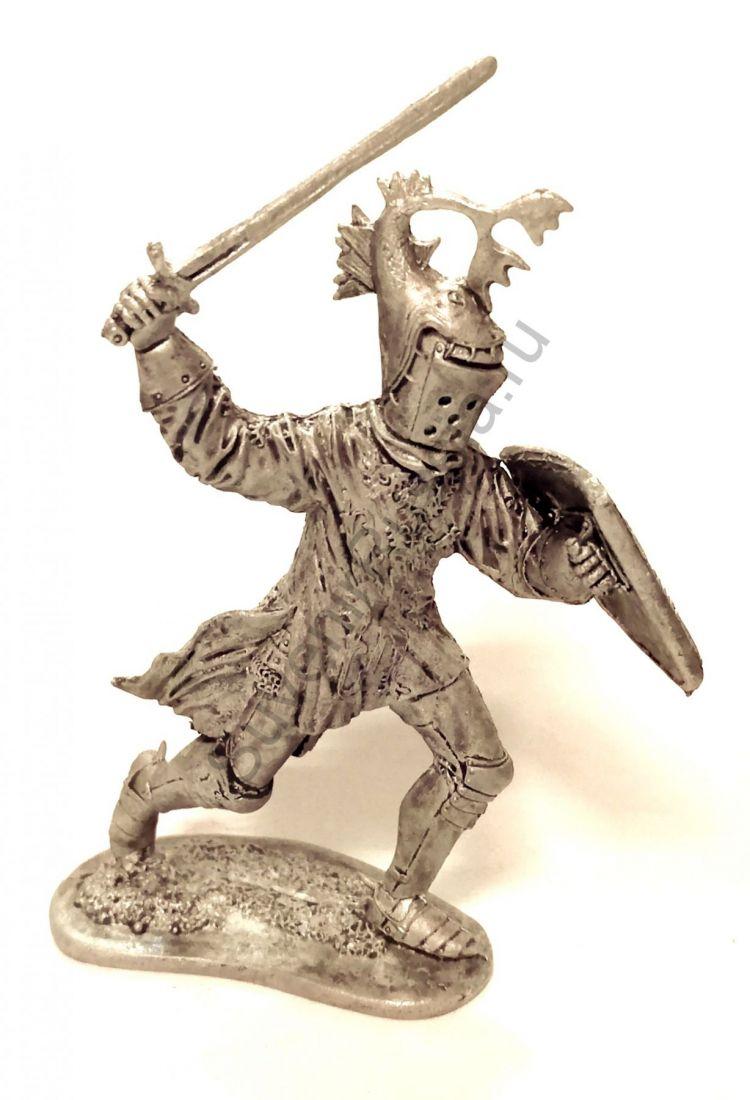 Фигурка Бургундский рыцарь Робер де Мамин, нач.15 века олово