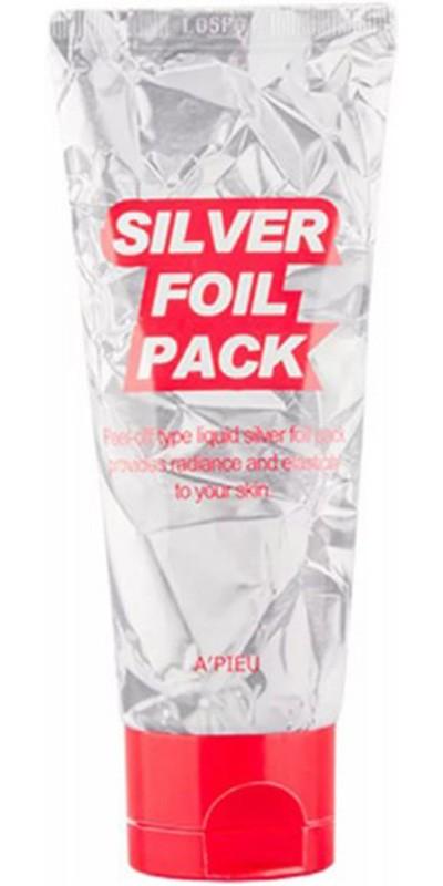 Маска-пленка для упругости кожи лица A'PIEU Silver Foil Pack 60мл (Корея оригинал) (2г350)