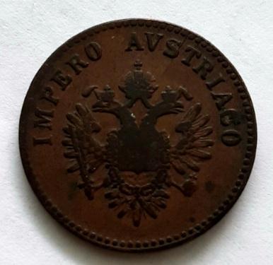 5 чентезимо 1852 Ломбардия Венеция Италия Австрия XF