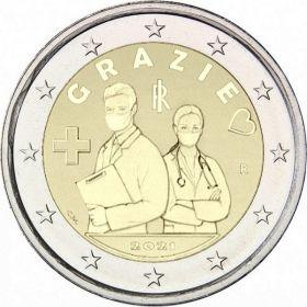 Спасибо медикам 2 евро Италия 2021