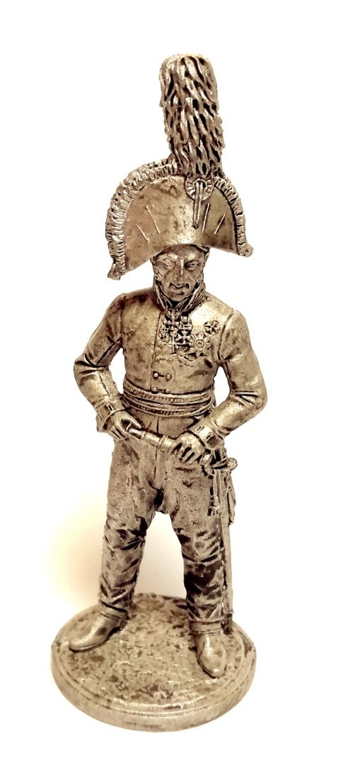 Фигурка Генерал-лейтенант князь П.И.Багратион. Россия, 1805 г. олово