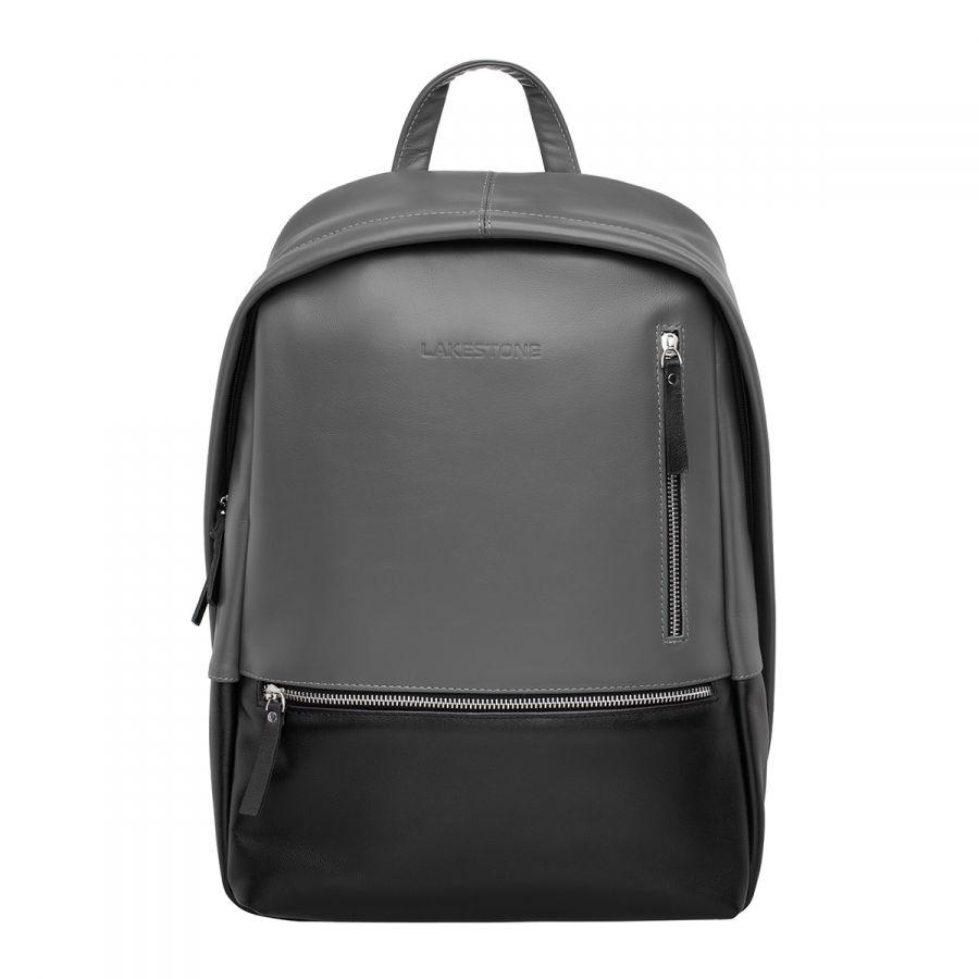 Кожаный рюкзак LAKESTONE Adams Black Grey