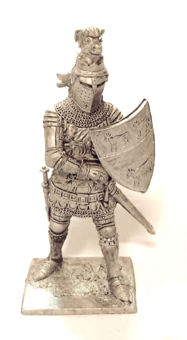 Фигурка Сэр Хью Калвли. Англия, 2-я пол. 14 века олово