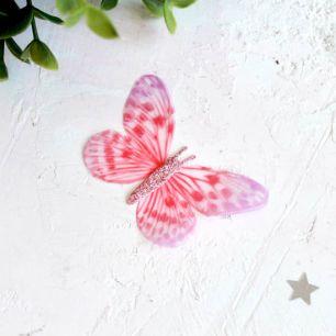 Аксессуар для кукол - бабочка розовая, 6 см.