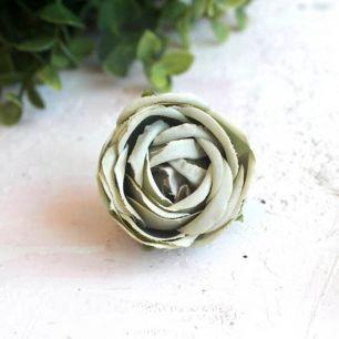 Бутон розы 4,5 см. - тканевый нежно-зеленый