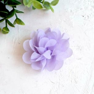 Цветок тканевый воздушный 4,5 см., сиреневый