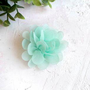 Цветок тканевый воздушный 4,5 см., мятный