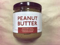 Натуральная арахисовая паста изюм-корица, ORTYM, 180 грамм, стекло