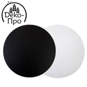 Подложка черная/белая d-28см 3мм