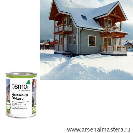 Защитное масло - лазурь для древесины для наружных работ OSMO Holzschutz Ol-Lasur 900 Белое 0,75 л