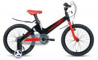 """Велосипед FORWARD COSMO 18 2.0 (18"""" 1 ск.) Чёрный/красный (1BKW1K7D1025)"""