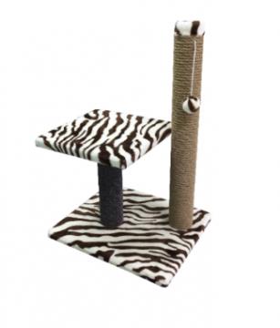 Когтеточка PerseiLine Столбик с лежаком и игрушкой КД-19
