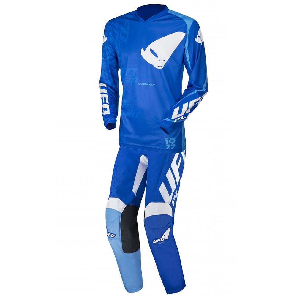 UFO Indium Blue джерси и штаны для мотокросса, синие