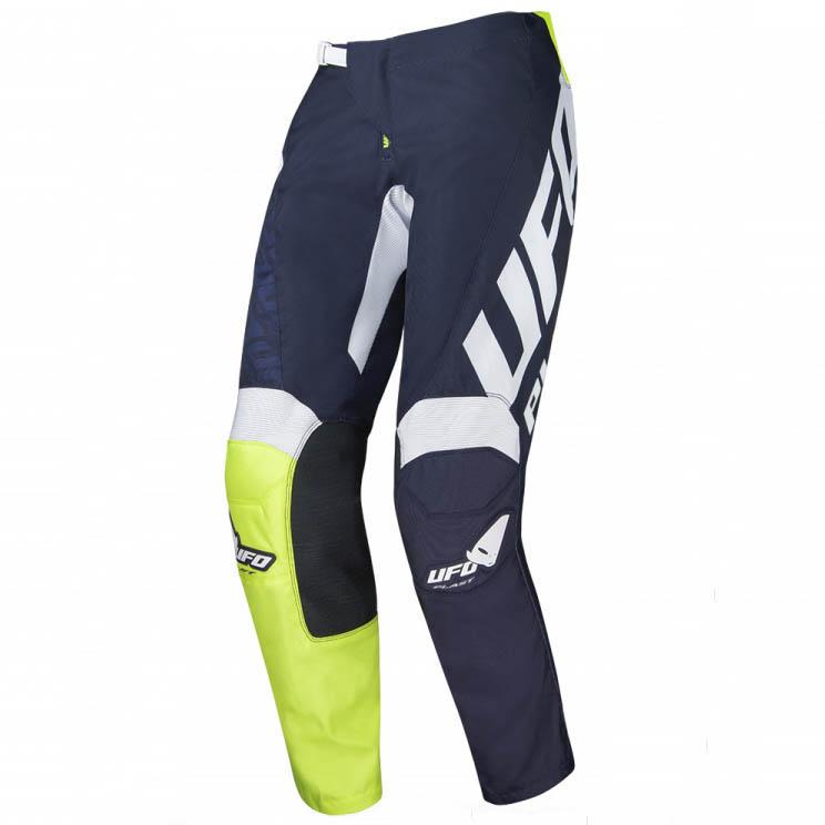 UFO Indium Pants Blue/Neon Green штаны для мотокросса и эндуро, синие