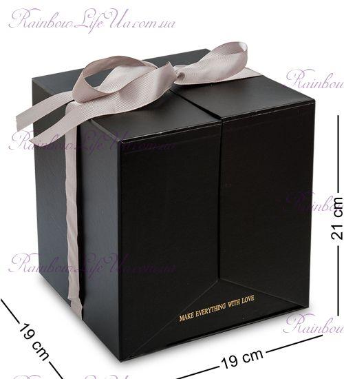 """Коробка подарочная """"Два Сердца"""" черная"""