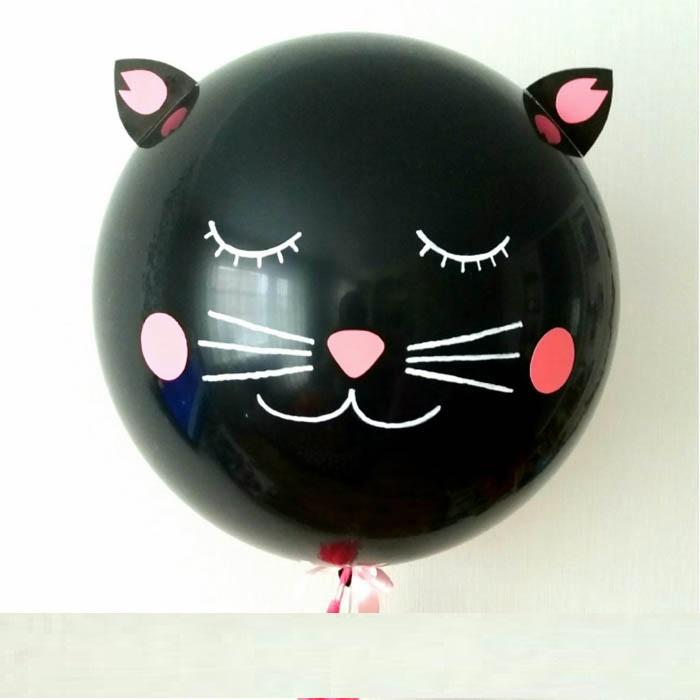 """Шар большой 27"""" (70см) - Черный кот"""