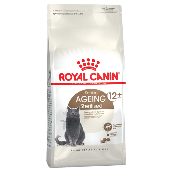 Сухой корм для стерилизованных пожилых кошек Royal Canin Ageing Sterilised 12+ 2 кг
